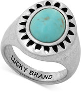Lucky Brand Silver-Tone Stone Statement Ring