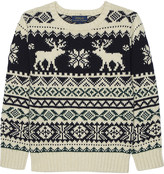 Ralph Lauren Reindeer knitted cotton jumper 4-7 years