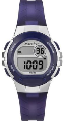 Timex Marathon By Marathon by Women's Digital 32mm Purple/Silver-Tone Resin Strap