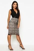 boohoo Boutique Tasha 2 in 1 Bodycon Midi Dress black