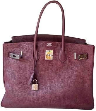 Hermes Birkin 35 Burgundy Leather Handbags