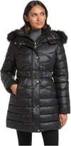 Gallery Belted Knee-Length Puffer Coat