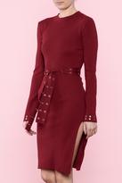 Hera Burgundy Grommet Dress