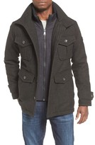 Ben Sherman Men's Wool Blend Field Jacket With Bib Inset