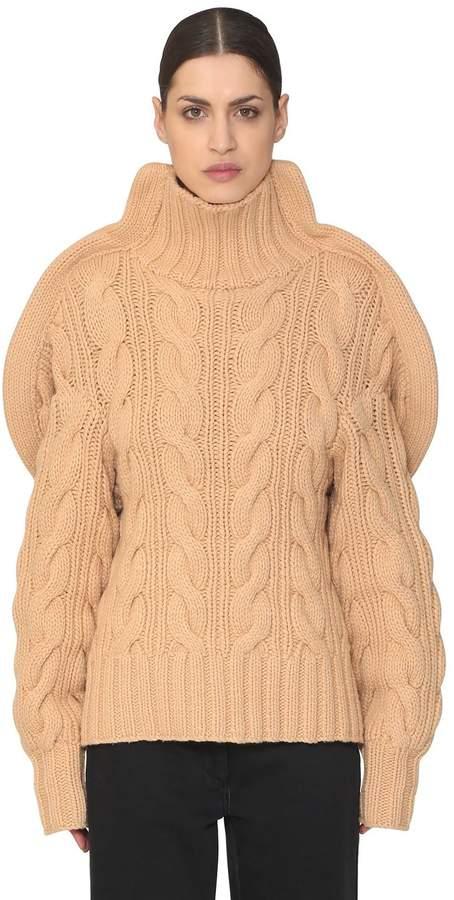 Aalto 3d Handmade Wool Knit Turtleneck Sweater