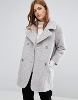 YMC Fluffy Double Breasted Cocoon Coat