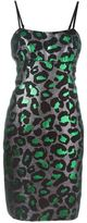 Marc by Marc Jacobs lurex leopard fitted dress