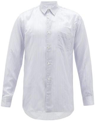 Comme des Garcons Striped Poplin Shirt - Mens - Blue White