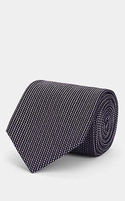 Brioni Men's Neat Silk Necktie - Lt. Purple