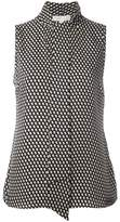 MICHAEL Michael Kors dots print sleeveless blouse