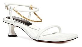 Proenza Schouler Women's Chain Detail Mid Heel Sandals