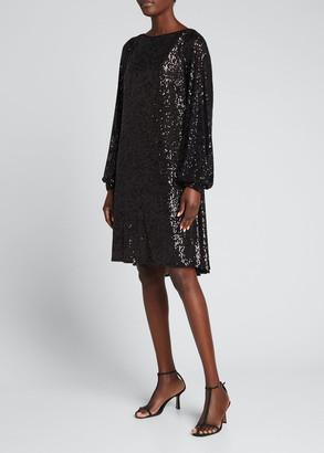 Talbot Runhof Matrix Sequined High-Low Dress