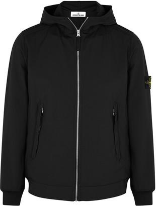 Stone Island Black Hooded Soft-shell Jacket