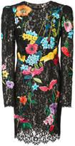 Monique Lhuillier lace floral dress