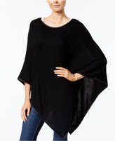 Charter Club Faux-Leather-Trim Poncho, Only at Macy's