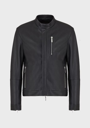 Emporio Armani Glove-Quality, Lambskin Nappa Leather Jacket