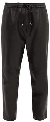 Nili Lotan Monaco Mid-rise Leather Trousers - Womens - Black