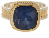 Anna Beck 18K Gold Plated Sterling Silver Sapphire Cushion Ring