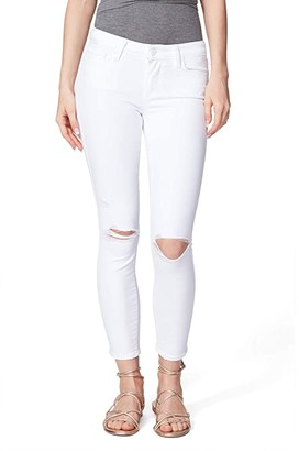 Paige Verdugo Crop Jeans in Leche Destructed (Leche Destructed) Women's Jeans