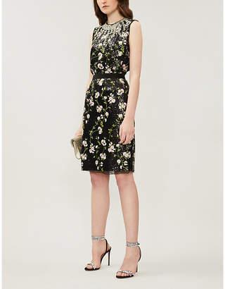 Giambattista Valli Floral-embroidery sleeveless sequinned mini dress