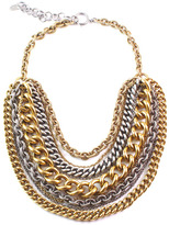 Elizabeth Cole Gold & Silver Chain Necklace