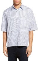 Vince Men's Stripe Boxy Sport Shirt
