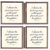 Ben's Garden Pair My Wine Coasters, Set of 4