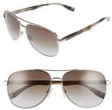 BOSS Men's '0700/s' 60Mm Aviator Sunglasses - Palladium Dark Horn