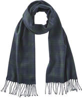 Joe Fresh Men's Plaid Scarf, Dark Navy (Size O/S)