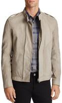 HUGO Matte Leather Zip Front Jacket