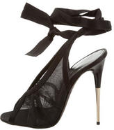 Tom Ford Mesh Lace-Up Sandals