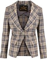 Vivienne Westwood New Bag Plaid Wool Blazer