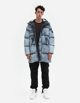 Stone Island Tela Nylon Down Frost Finish Long Down Jacket