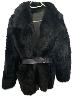 IRO Black Mongolian Lamb Leather jackets