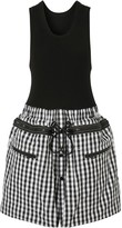 Burberry gingham loop-back dress