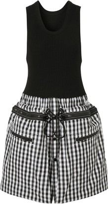 Burberry Gingham Loop-Back Dress