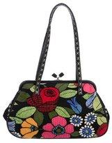 Isabella Fiore Embellished Floral Print Bag