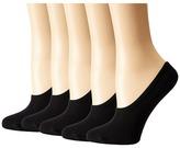 Steve Madden 5-Pack Black Mesh Footie Women's No Show Socks Shoes