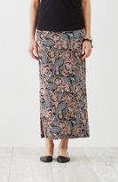 J. Jill Paisley Knit Maxi Skirt