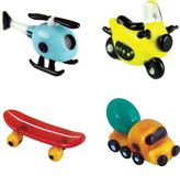 Looking Glass 4-pk. Helicopter, Motorcycle, Skateboard & Truck Mini Figurines