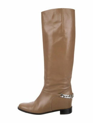 Christian Louboutin Cate Leather Riding Boots Brown