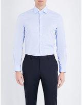 Corneliani Diamond-pattern Slim-fit Cotton Shirt