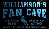 AdvPro Name tg1213-b Williamson's Hockey Fan Cave Man Room Bar Beer Neon Light Sign