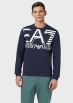 Emporio Armani Ea7 Crew-Neck Sweatshirt With Maxi Logo Print