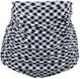 Milkuu Women's Shirred High Waist Ruched Bikini Bottom Swim Short