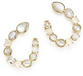 Ippolita 18K Yellow Gold Rock Candy® Moonstone and Mother-Of-Pearl Doublet Hoop Earrings in Flirt