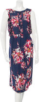 Suno Silk Floral Print Dress