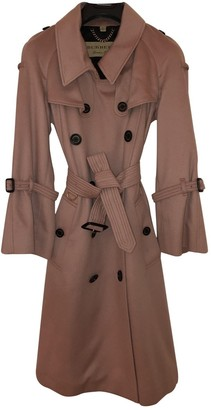 Burberry Pink Cashmere Trench Coat for Women