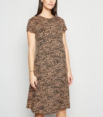 New Look Maternity Leopard Print Swing Dress