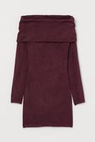 H&M Off-the-shoulder Dress - Red